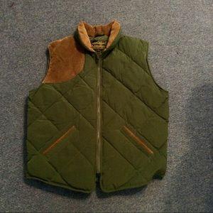 Vintage Eddie Bauer Puffer Down Corduroy Vest M